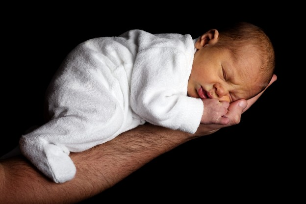 baby in daddy's hand photo/ public domain pic from pixabay.com