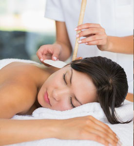 Ear candling   photo supplied/ New Jersey Colonic