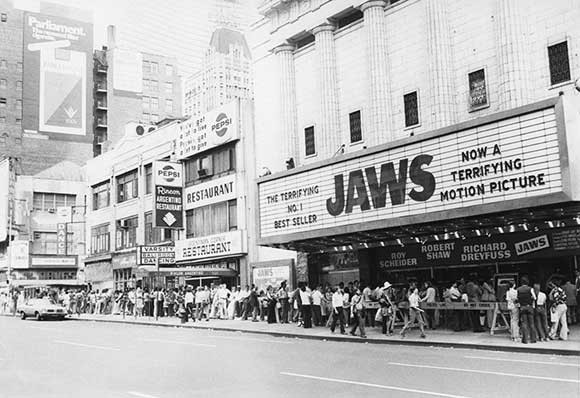 jaws opens in theaters June 1975