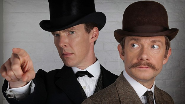 Benedict Cumberbatch Martin Freeman Sherlock special photo
