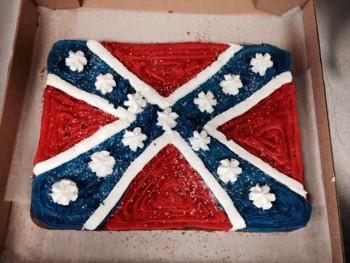 Confederate flag cake from a Virginia baker photo/ Facebook