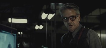 "Jeremy Irons as Alfred in ""Dawn of Justice"""