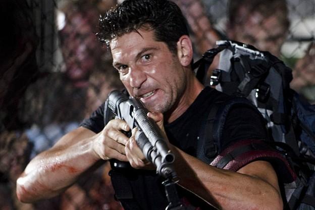 Jon Bernthal as Shane in The Walking Dead gun crazy face