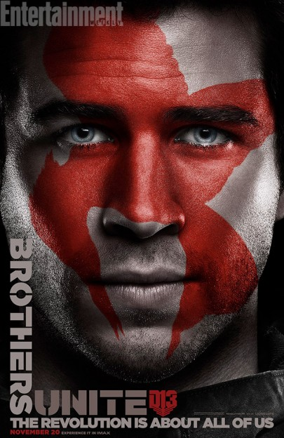 Liam Hemsworth Gales Hunger Games Mockingjay poster faces-of-the-revolution
