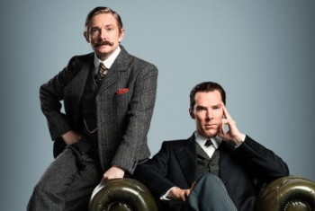 Martin Freeman Benedict Cumberbatch Sherlock Christmas special photo