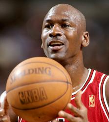 Chicago Bulls Michael Jordan 1997 photo/ Steve Lipofsky Basketballphoto.com