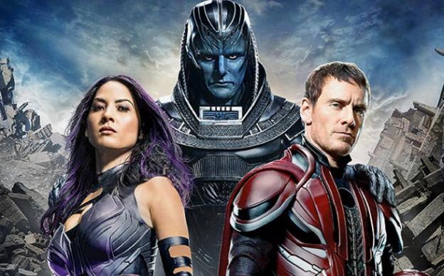 X-Men Apocalypse  Olivia Munn Michael Fassbender Oscar Isaac