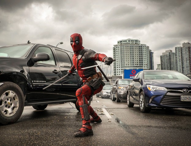 deadpool in action photo