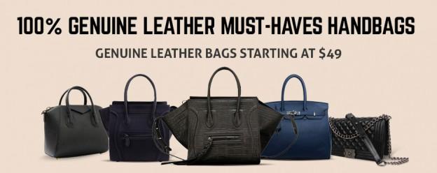 leather handbag purses ad banner