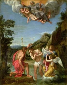 Baptism of Christ by Francesco Albani circi 1600