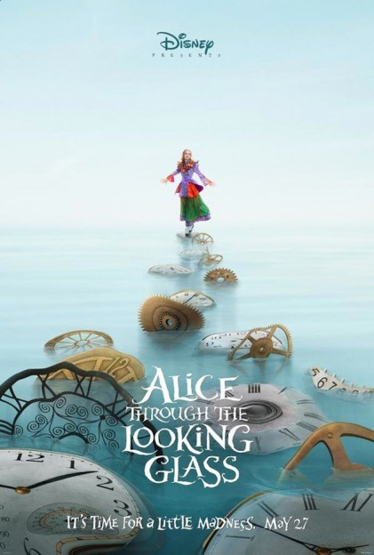 mia as alice in alice through the looking glass move poster