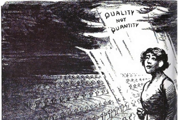 Margaret Sanger cartoon  -- An illustration from Birth Control Review, 1918