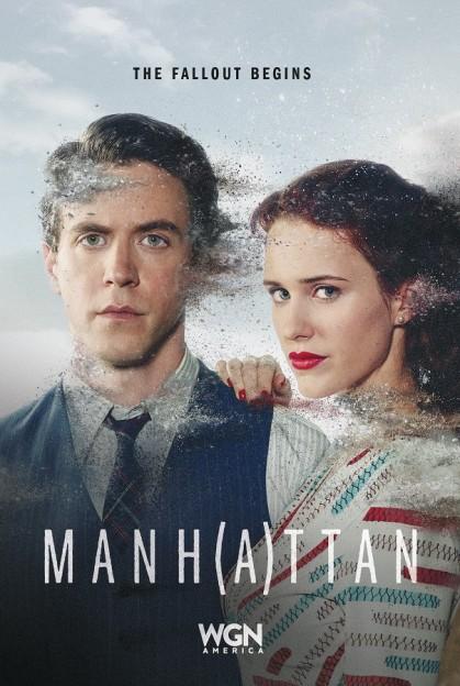 Manhattan season 2 key art Ashley Zukerman Charlie Isaacs Rachel Brosnahan Abby Isaacs