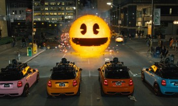 "The Pac-Man showdown in ""Pixels"""