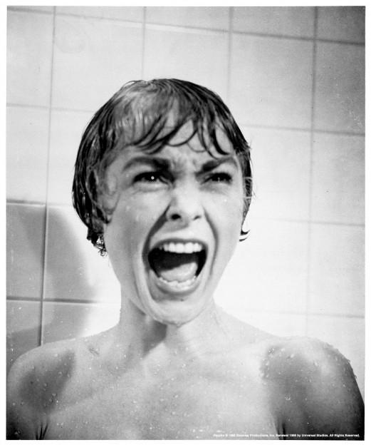 Psycho shower scene scream photo