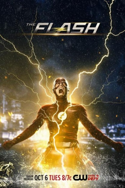 The Flash season 2 promo poster Grant Gustin Crisis post