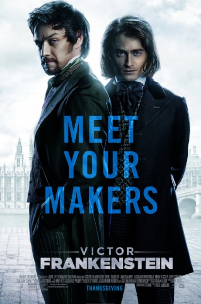 Victor Frankenstein movie poster James McAvoy Daniel Radcliffe