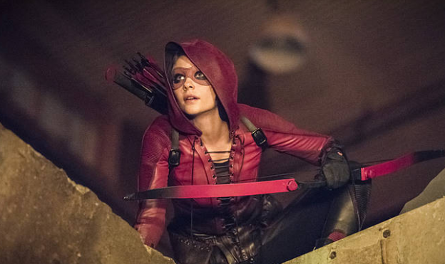 Willa Holland as Thea's Speedy in Arrow season 4