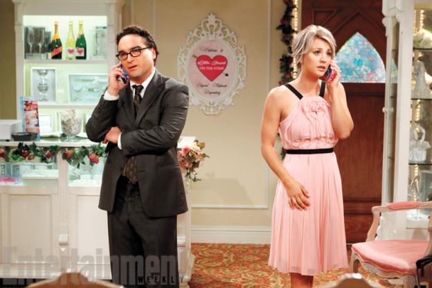 big-bang-theory-season 9 Johnny Galecki as Leonard Kaley Cuoco Penny wedding