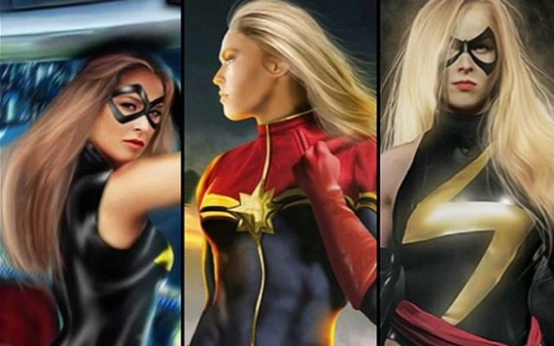 Fan art of Ronda Rousey as Captain Marvel