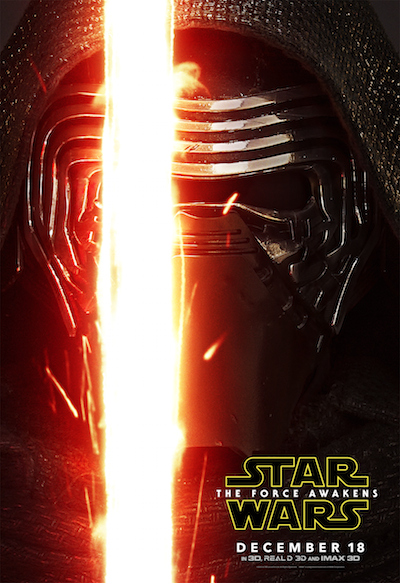 Adam Driver as Kylo Ren Star Wars the Force Awakens poster