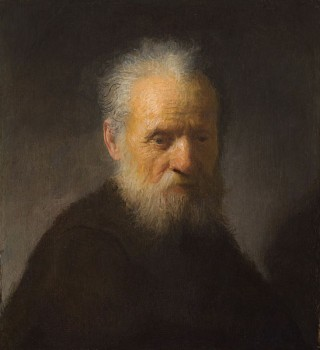 An old man with beard by Rembrandt /Public domain