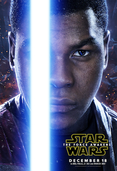 John Boyega as Finn Star Wars the Force Awakens poster