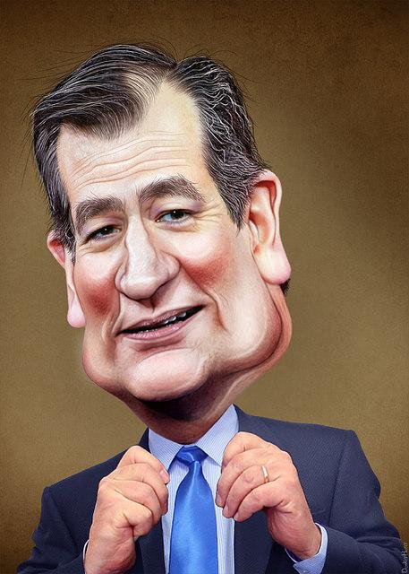 Ted Cruz donkeyhotey portrait photo