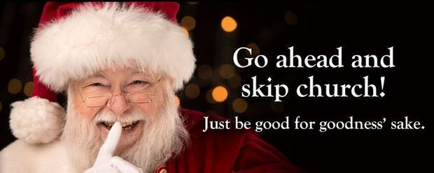 American Atheists Santa skip church billboard attack christianity
