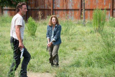 Andrew Lincoln as Rick Grimes and Tovah Felshuh as Deanna - The Walking Dead _ Season 6, Episode 8 - Photo Credit: Gene Page/AMC