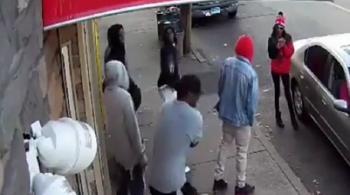 screenshot of video capturing a Connecticut shooting
