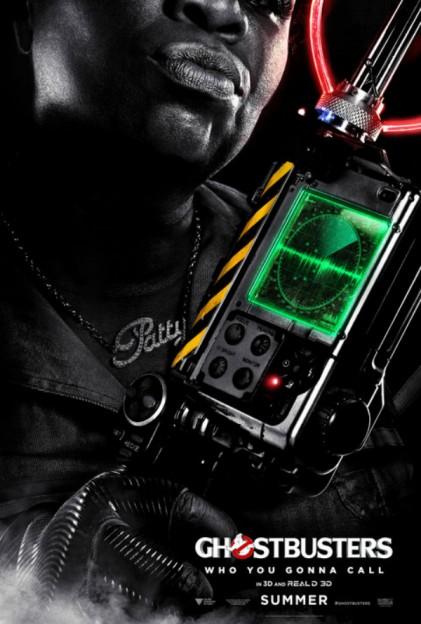 Leslie Jones as Patty Tolan Ghostbusters movie poster