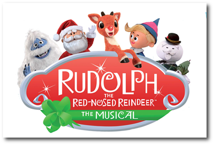 Rudolph the Red nosed reindeer musical banner
