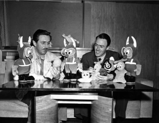 Walt Disney and Roald Dahl, 1942 photo in Hollywood courtesy of Disney