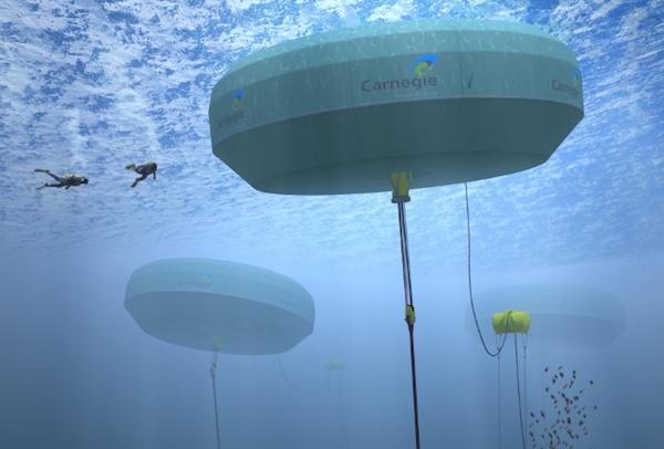ocean-energy-Australia Carnegie wave energy underwater buoy