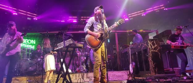 Crowder on stage Winter Jam 2016 in Tampa photo/ Brandon Jones