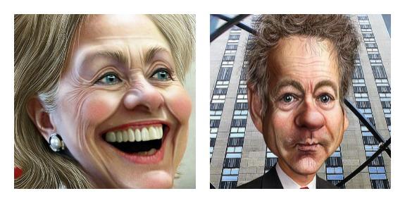 Hillary Clinton/Rand Paul Image/Donkey Hotey