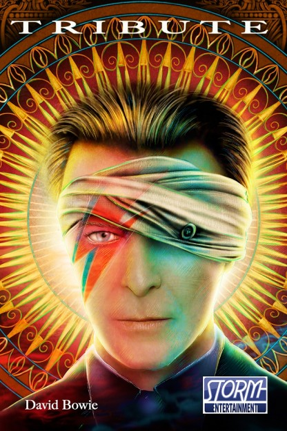 David Bowie comic book cover