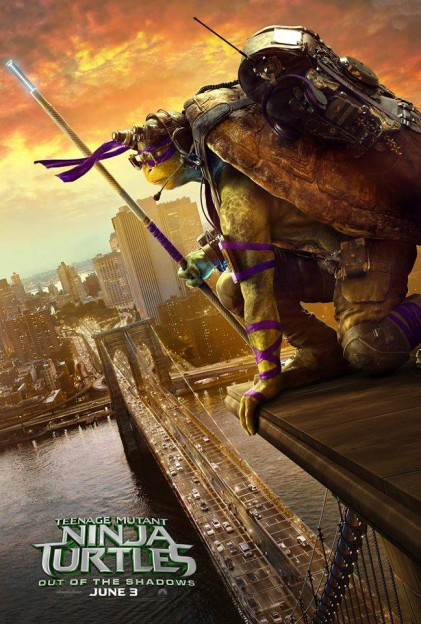 Donatello TMNT Ninja Turtles move poster Out of the Shadows