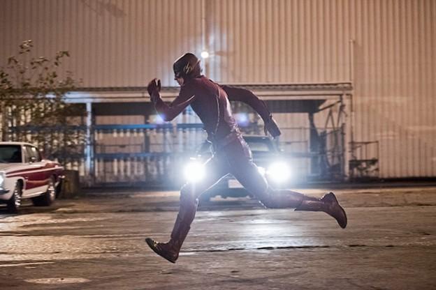 Fast Lane Grant Gustin as Flash running