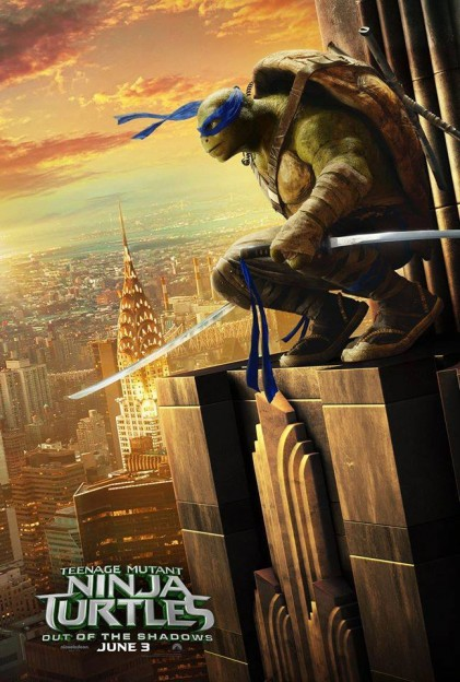 Leonardo TMNT Ninja Turtles move poster Out of the Shadows