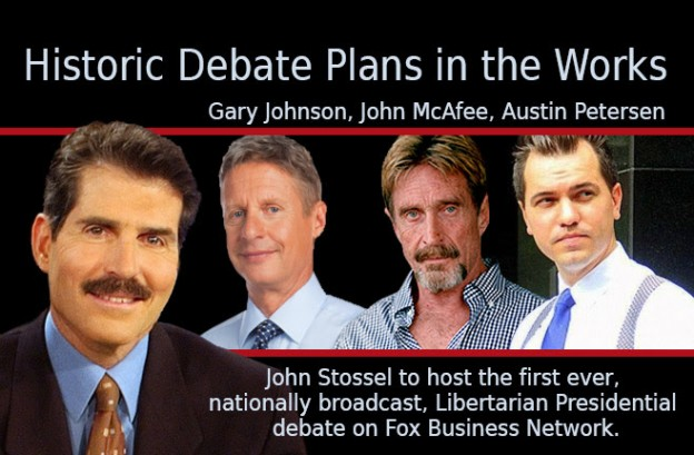 Historic Nationally-televised Libertarian Presidential Debate Planned for March 2016/LP of Pinellas County
