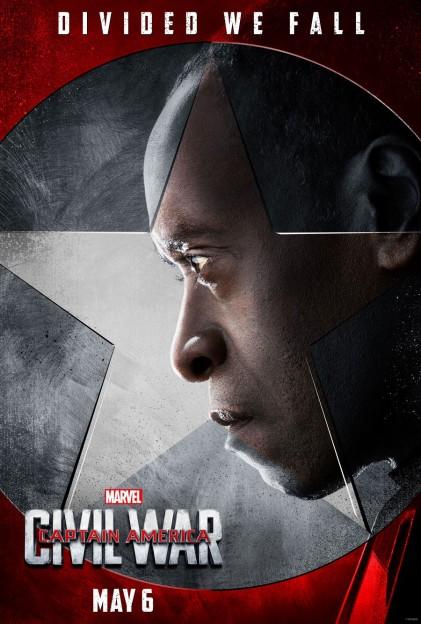 Captain AMerica civil War Don Cheadle War Machine poster
