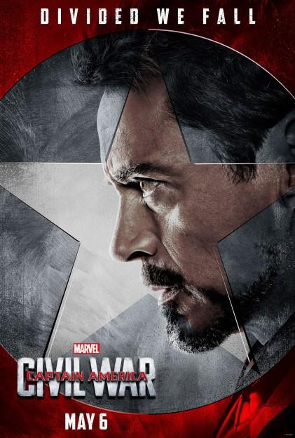 Captain AMerica civil War Robert Downey Jr Iron Man poster