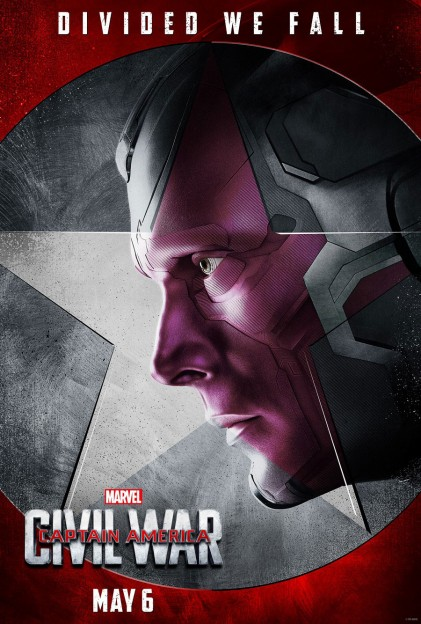 Captain AMerica civil War Vision Paul Bettany movie poster