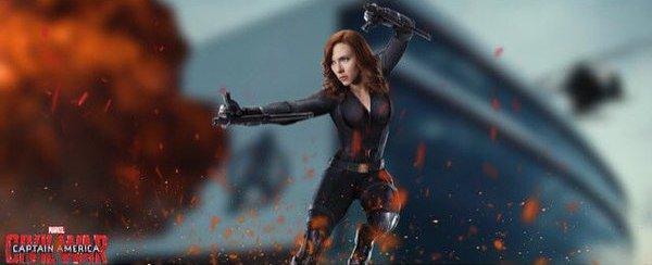 Captain America Civil War Black Widow Scarlett Johansson banner