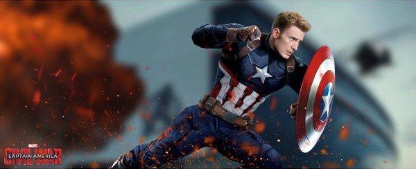 Captain America Civil War Cap Chris Evans banner