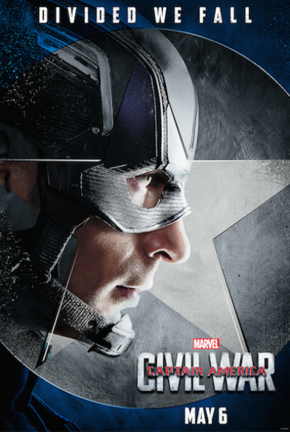 Captain America Civil War Chris Evans cap movie poster