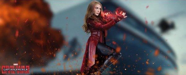 Captain America Civil War Elizabeth Olsen Scarlet Witch banner