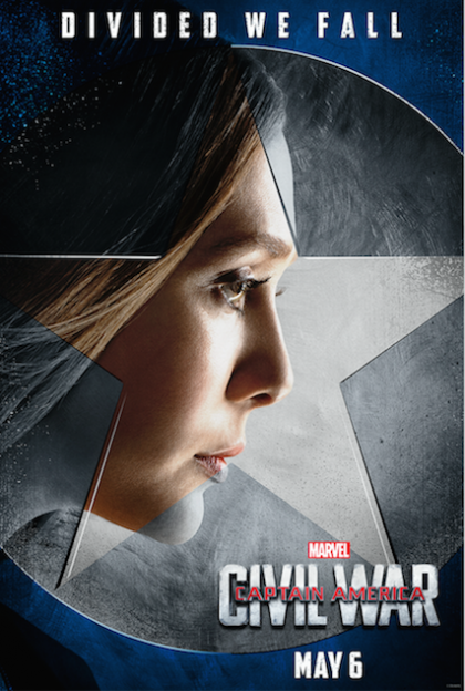 Captain America Civil War Elizabeth Olsen Scarlet Witch movie poster